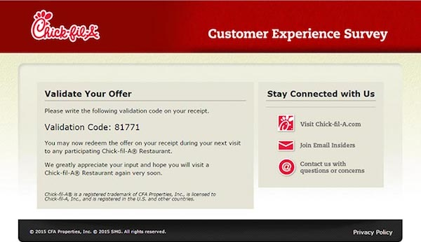 Chick-Fil-A Customer Satisfaction Survey